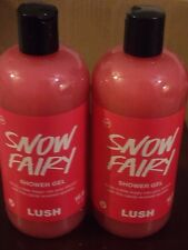 LUSH Handmade Cosmetics Snow Fairy Shower Gel Lot Two HUGE 16.9 oz NEW
