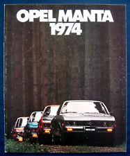 Prospekt brochure 1974 Buick Opel Manta   (USA)