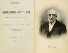 1907 POTTAWATTAMIE County Iowa IA, History and Genealogy Ancestry DVD B38