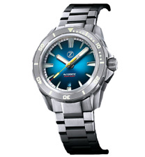 ✅ ZELOS SWORDFISH TI TEAL TITANIUM DIVER WATCH INTERNATIONAL SHIPPING 🇺🇸DEALER
