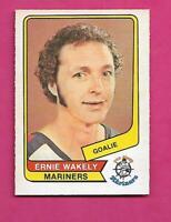 RARE 1976-77 OPC WHA # 92 MARINERS ERNIE WAKELY GOALIE NRMT CARD (INV# C5600)