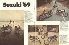 1969 Suzuki TS-250 Enduro Savage 4-Page Vintage Motorcycle Ad