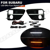 Switchback LED Daytime Running Light Turn Signal Lamp Bezel For Subaru WRX 15-17
