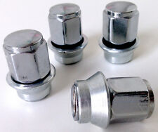 Ford Ghia alloy wheel Sleeve nuts with washer. Set of 4 x M12 x 1.5 19mm Hex