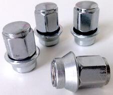 FORD ghia dadi della ruota sulla manica con rondella. Set di 4 x m12 x 1.5 19mm Hex