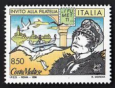 FRANCOBOLLO CORTO MALTESE ITALIA 1996 Lire 850 NUOVO INVITO ALLA FILATELIA FUMET