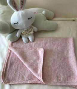 100% 4-Ply Cashmere Handmade Pink Baby Kids Throw Blanket