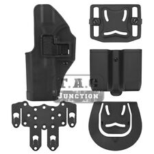 CQC Serpa Left Pistol Holster w/ MOLLE & Mag Pouch for Glock 17 19 22 23 31 32