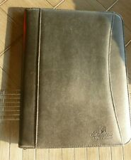 Folder Zip Folio Case Faux Leather Business Document Case Folder Notepad Holder