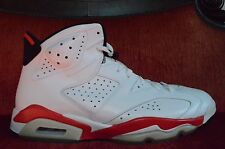WORN ONCE Nike Air Jordan 6 VI Retro Bulls White Varsity Infrared Pack Size 13