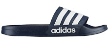 New adidas Men's Adilette CloudFoam Slides Blue Sandals Sport AQ1703 Slippers CF