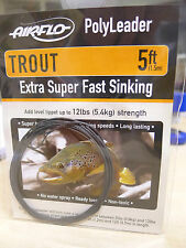 AIRFLO Polyleader TROUT 5ft /1,50 Mtr. EXTRA SUPER FAST SINKING