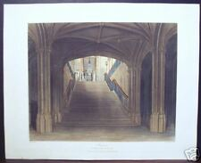 "W. H. Pyne: ""Staircase, Windsor Castle"" Engraving 1817"