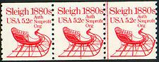 PNC #1900 #2 MNH 5.2c SLEIGH Strip of 3