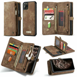 Luxury Leather Flip 2 in 1 Detachable Wallet Case Cover for iPhone And Samsung