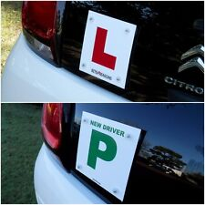 L PLATE FOR GLASS REAR WINDOW & ALL SURFACES WITH P PLATE ON REVERSE 1 PLATE KIT