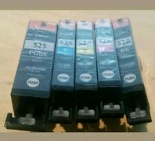 Canon PGI-525 Black + CLI-526 Cyan, Magenta, Yellow,Genuine Black Ink Cartridges