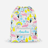 Personalised Tropical Flamingos Girls Kids PE Bag Swimming School Drawstring Bag
