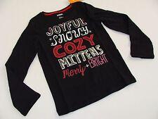 Gymboree Holiday Shop Girls Size 7 Top Shirt NEW NWT Joyful Snowy Cozy Black