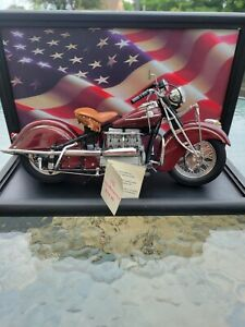 franklin mint 1942 442 indian motorcycle 1:10 Scale Die-cast