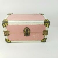 Vintage Vogue Ginny Pink Doll Carry Travel Case Metal Trunk Suitcase