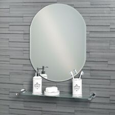 Lincoln - Frameless Bathroom Wall Mirror Bevelled Edge (60 x 45cm or 70 x 50cm)