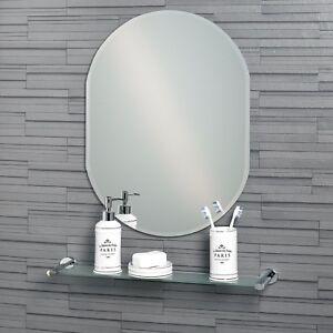 Lincoln - Frameless Bathroom Wall Mirror Bevelled Edge (60 x 45cm or 70 x 50cm)