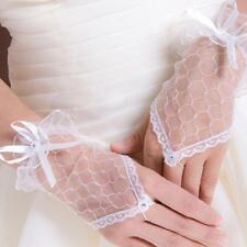 Accessoires mariage: Gants en tulle - noeud et strass - Entre-doigt strass