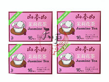 4 x YAMAMOTOYAMA Japanese Jasmine Tea Aluminium Sealed 32g x 16 Tea Bags