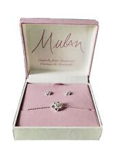 Disney Princess Mulan Earrings and Bracelet Set