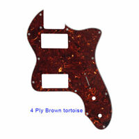 72 thinline Guitar Pickguard With PAF humbucker pickups, 4 Ply Bronw Tortoise