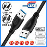 Super Speed USB 3.0 2.0 Male To Female Data Cable Extension Cord For Laptop Lot