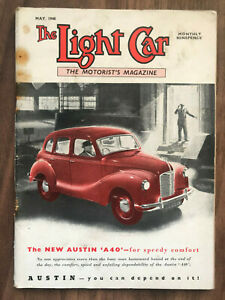 The Light Car Magazine May 1948 Austin A40 front cover