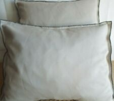 £10.99 FOR A  PAIR OF EXTRA LARGE BOLSTER CUSHIONS PLAIN GREY SMOOTH FABFIC