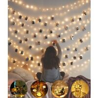 5M 50 LED Battery Micro Rice Wire Copper Fairy String Lights Party Warm White US