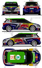 1/43 Decal Skoda Fabia S2000 #25/27 Rally Allemagne/Catalogne 2011