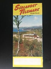 Rare ancien dépliant Brochure Esso Sörlandet Telemark Norvège