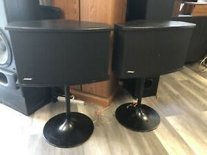 Bose 901 Series Vl Speakers + Black Tulip Stands  Excellent Condition!