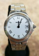 *Women's Movado 84-E3-0828 Museum Stainless Steel Watch Pre-owned Free Shipping
