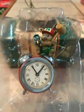 ENESCO CHRISTMAS ORNAMENT:ALL SET FOR SANTA #3 MOUSE W/ ALARM CLOCK:GILMORE NEW