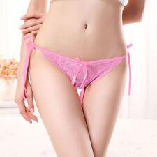 Women's Strap Bikini Knickers T-string Thongs Underwear Lace Briefs Lingerie