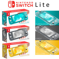 Nintendo Switch Lite Portable Handheld Game Console Turquoise Yellow Grey