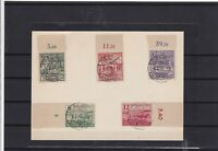 Germany Saxony 1946 reconstruction Fund used Stamps on piece Ref 14223