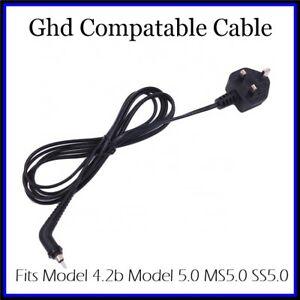 Ghd Cable Power Cord For Ghd 5.0 4.2b SS5 MS5 Hair Straighteners UK Plug 1-100