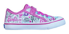 Keds Barbie doble AC Niñas Niños Mocasines KT55374 Blanco Rosa Uk Size 5 K