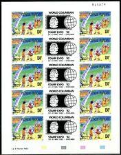 """Polynésie Non dentelés - Imperf 1992 Yvert 409A """"World Columbian Stamp Expo 92"""""""