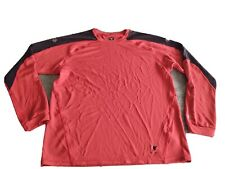 Insport Running Shirt Mens Large Long Sleeve Running Top Red Black L