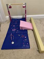 American Girl Gymnastics Set Balance Beam Mat Bars Rhythmic Gymnastics