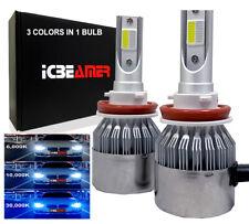 JDM H11 Super White Dark Blue COB LED Headlight Low Beam Fog Light Bulb D6