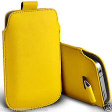 """Yellow PU Synthetic Leather Pouch Sleeve Protective Case for iPhone 6 6G 4.7"""""""